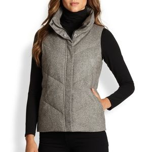 Eileen Fisher Tweed Puffer Down Vest